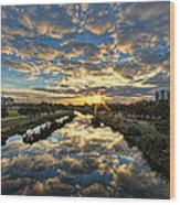 A Magical Marshmallow Sunrise  Wood Print by Ron Shoshani