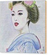 A Maiko  Girl Wood Print