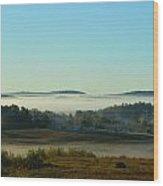 A Maine Foggy Morn Wood Print