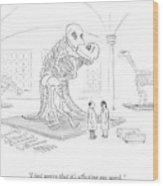 A Male And Female Paleontologist Wood Print