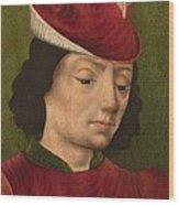 A Male Figure Perhaps Saint Sebastian A Wood Print
