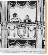 A Man And A Woman Are Sitting In The Balcony Wood Print