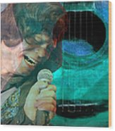 A Man And His Music - James Brown Featured In 'abc Group' And Comfortable Art Group Wood Print