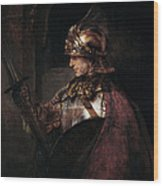 A Man In Armour, 1655 Wood Print