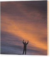 A Man In Lone Pine, California Wood Print