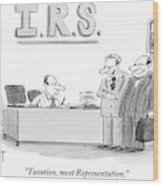 A Man Introduces A Lawyer To An Irs Agent Wood Print