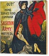 A Man May Be Down . . .   1919 Wood Print