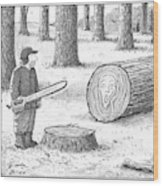 A Man Who Has Just Cut Down A Tree Sees That Wood Print