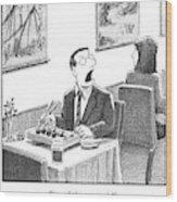 A Man Yelling Loudly Wood Print