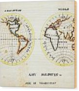 A Map Of The World  Amy Baldwin Sc Wood Print