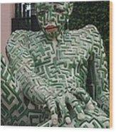 A Maze Ing Man 1 Wood Print