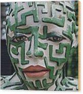 A Maze Ing Man 3 Wood Print