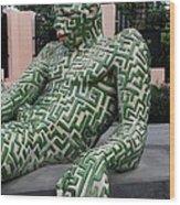 A Maze Ing Man 5 Wood Print