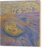 A Mer-fairie Dream Wood Print by Jacquelyn Roberts