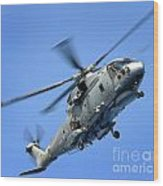 A Merlin Helicopter Wood Print
