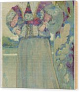 A Middle-class Lady In  Lacy Collar Wood Print