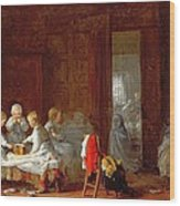 A Midnight Feast, 1866 Wood Print by Frederick Daniel Hardy