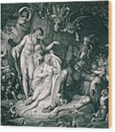 A Midsummer Nights Dream Wood Print by Henry Fuseli