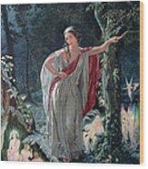 A Midsummer Nights Dream Hermia Wood Print