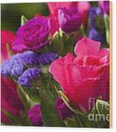 A Mixed Bouquet Wood Print