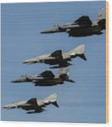 A Mixed Formation Of U.s. Air Force Wood Print