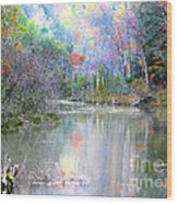 A Monet Autumn Wood Print
