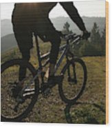 A Mountain Biker Makes His Final Wood Print