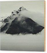 A Mountain Scene Wood Print
