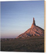 A Mountain Surrounded By Prairies Wood Print
