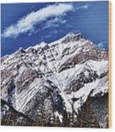 A Mountain View Wood Print