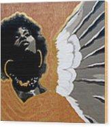 A Natural Angel Wood Print