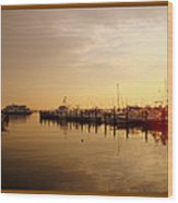 A New Day Beings On The Water - Atlantic Highlands  - Nj Wood Print