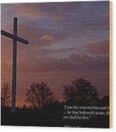 A New Day Dawning - With Scripture Wood Print