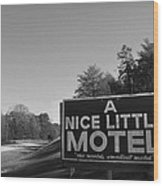 A Nice Little Motel Sign Wood Print