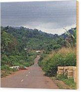 A Nice Nigerian Road Wood Print