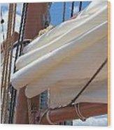 A Nice Pile Of Sail Wood Print