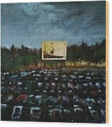 A Night At The Drive In Wood Print