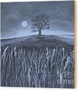 A Night At The Plains Wood Print