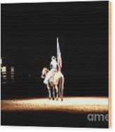 A Night At The Rodeo Wood Print