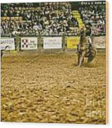A Night At The Rodeo V15 Wood Print