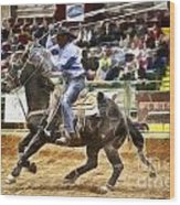 A Night At The Rodeo V19 Wood Print
