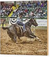 A Night At The Rodeo V21 Wood Print