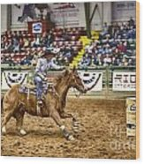 A Night At The Rodeo V27 Wood Print