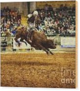 A Night At The Rodeo V7 Wood Print
