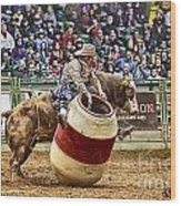 A Night At The Rodeo V9 Wood Print