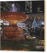 A Night In Bryant Park Wood Print