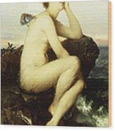 A Nymph By The Sea Wood Print by Wilhelm Kray