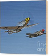 A P-51d Mustang Kimberly Kaye Wood Print