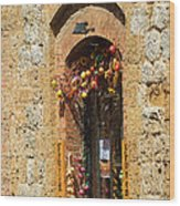 A Painting A Tuscan Shop Doorway Wood Print