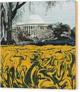 A Painting Jefferson Memorial Dali-style Wood Print